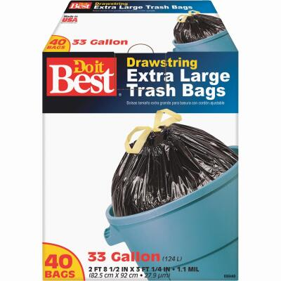 Do it Best 33 Gal. Extra Large Black Trash Bag (40-Count)