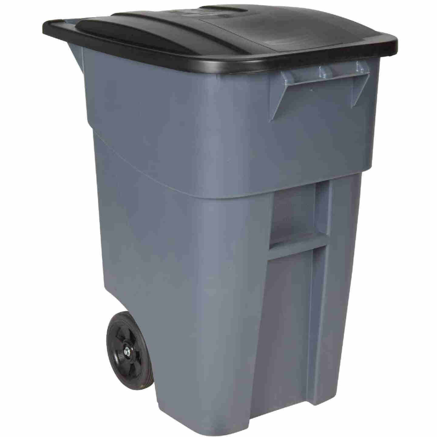 Rubbermaid 50 Gal. Plastic Trash Can With Lid Image 1