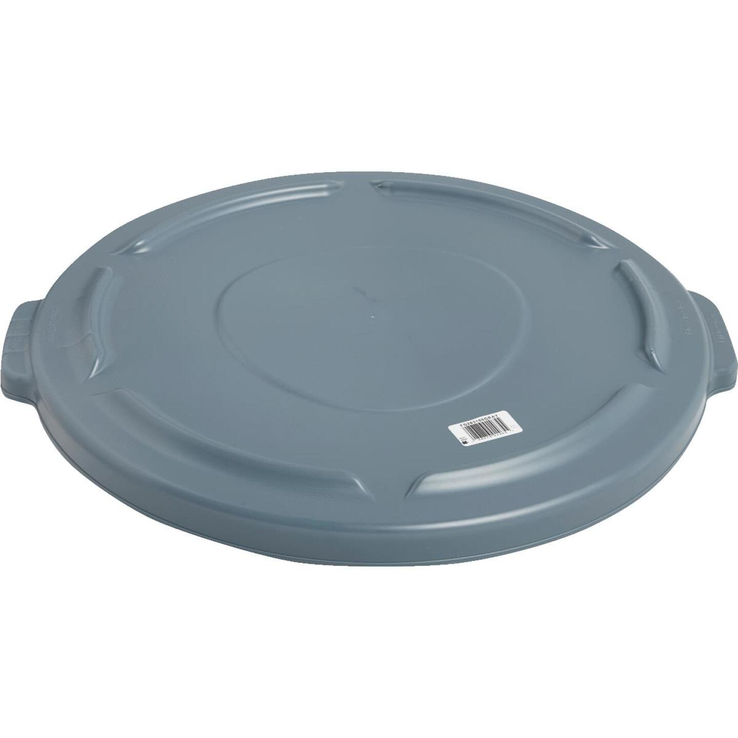 Rubbermaid Commercial Brute Gray Trash Can Lid for 32 Gal. Trash Can Image 2