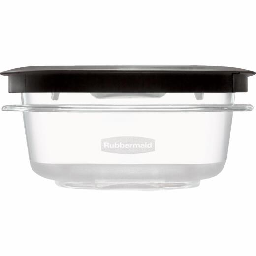 Rubbermaid Premier 1.25 C. Clear Round Food Storage Container with Lid