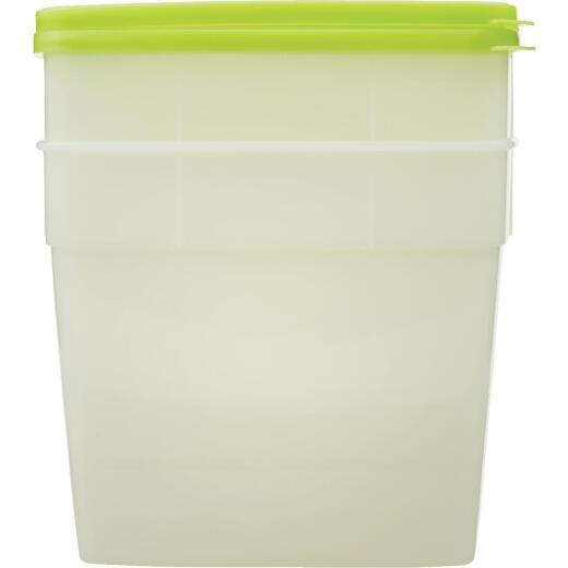 Stor Keeper 1/2 Gal. Clear Square Freezer Food Storage Container with Lids (2-Pack)