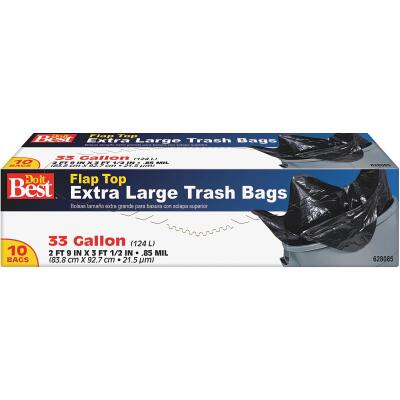 Do it Best 33 Gal. Extra Large Black Trash Bag (10-Count)