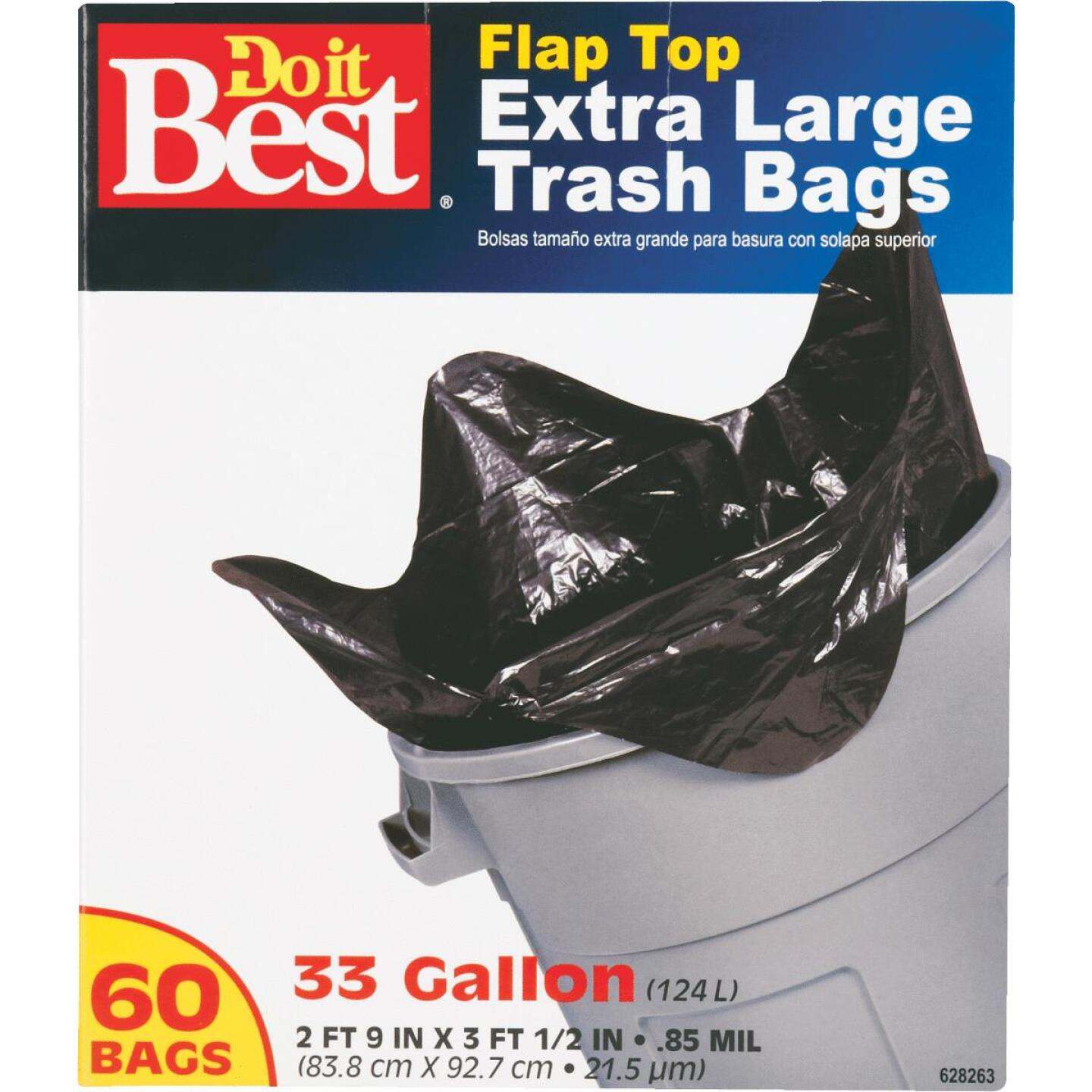Do it Best 33 Gal. Extra Large Black Trash Bag (60-Count) Image 2