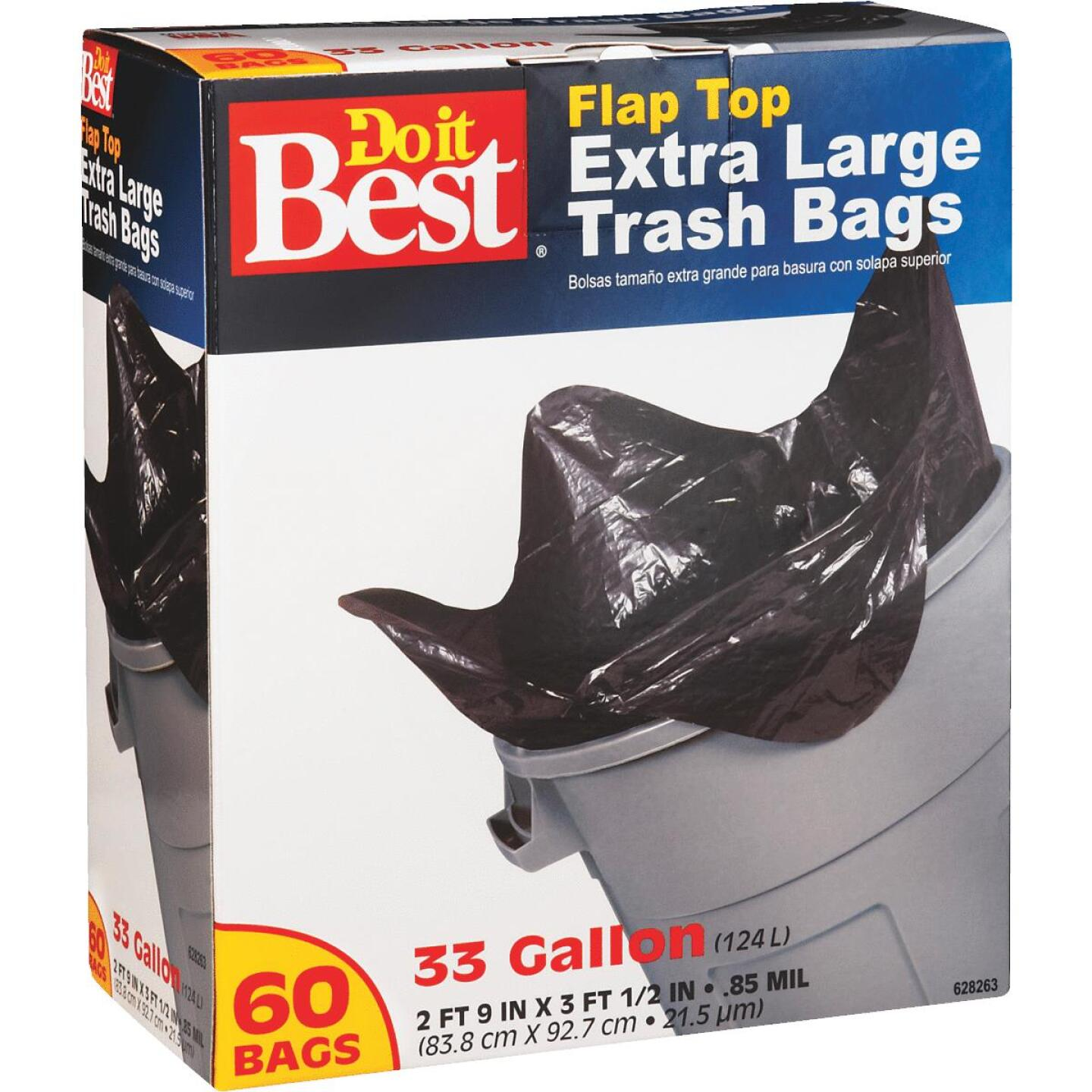 Do it Best 33 Gal. Extra Large Black Trash Bag (60-Count) Image 1