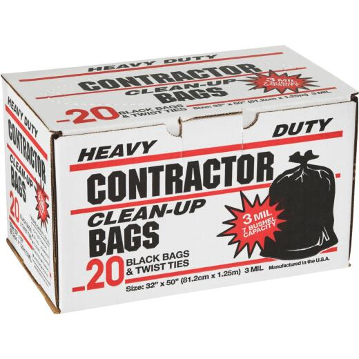 Primrose 7 Bu. Contractor Black Trash Bag (20-Count)