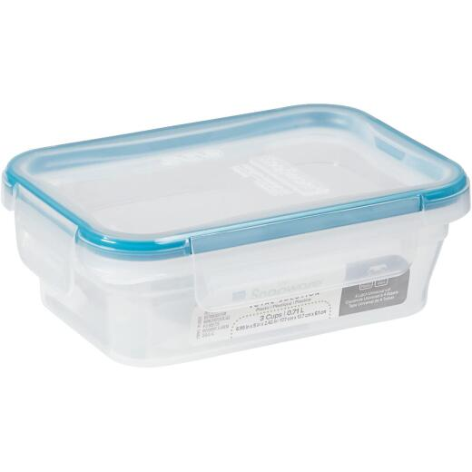 Snapware Total Solution 3 Cup Plastic Rectangle Food Storage Container with Lid