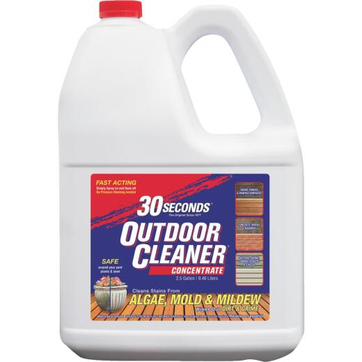 30 seconds Outdoor Cleaner 2.5 Gal. Concentrate Algae, Mold & Mildew Stain Remover