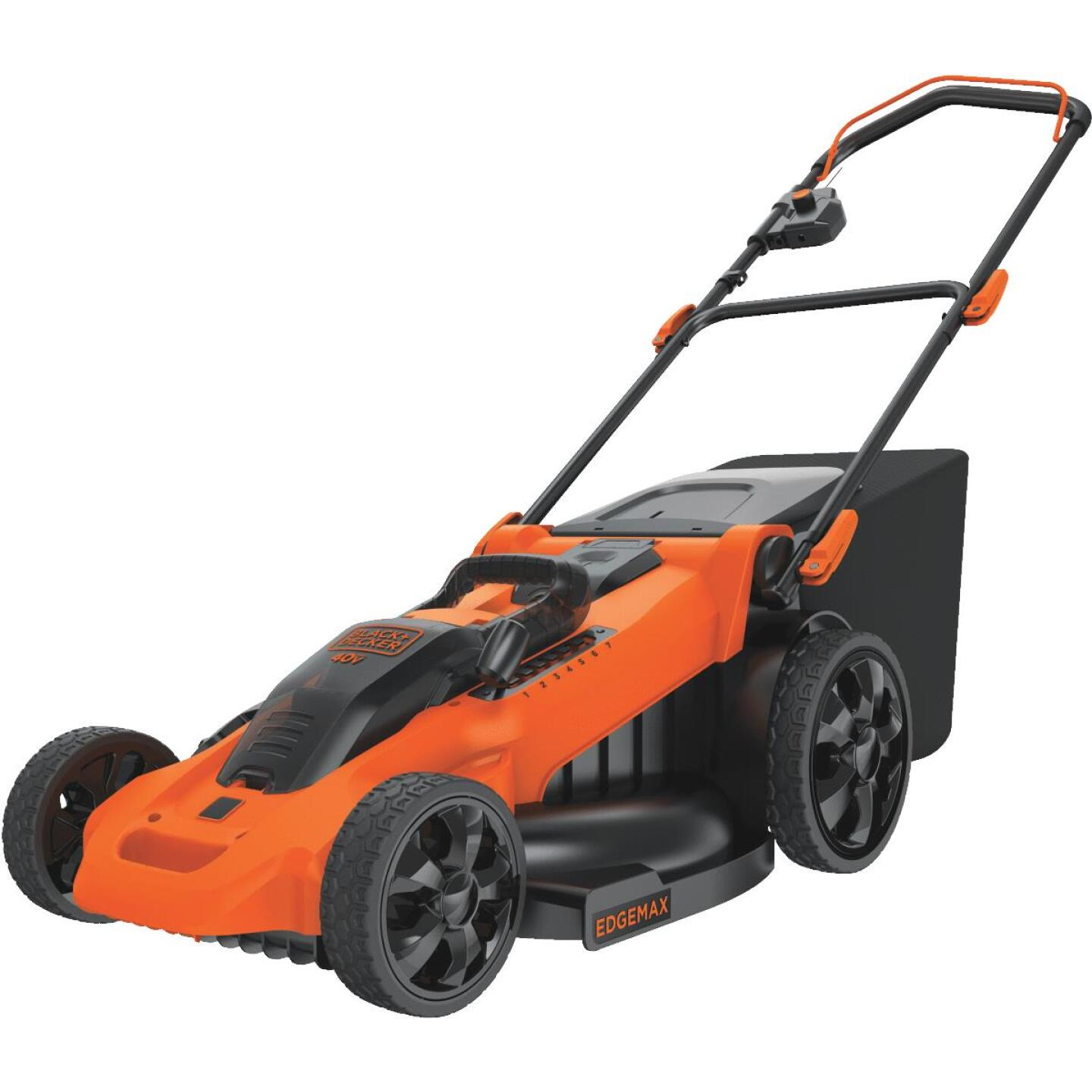 Black & Decker 20 In. 40V MAX Lithium Ion Push Cordless Lawn Mower Image 5