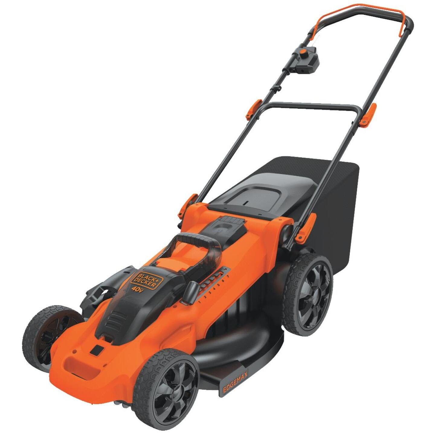Black & Decker 20 In. 40V MAX Lithium Ion Push Cordless Lawn Mower Image 1