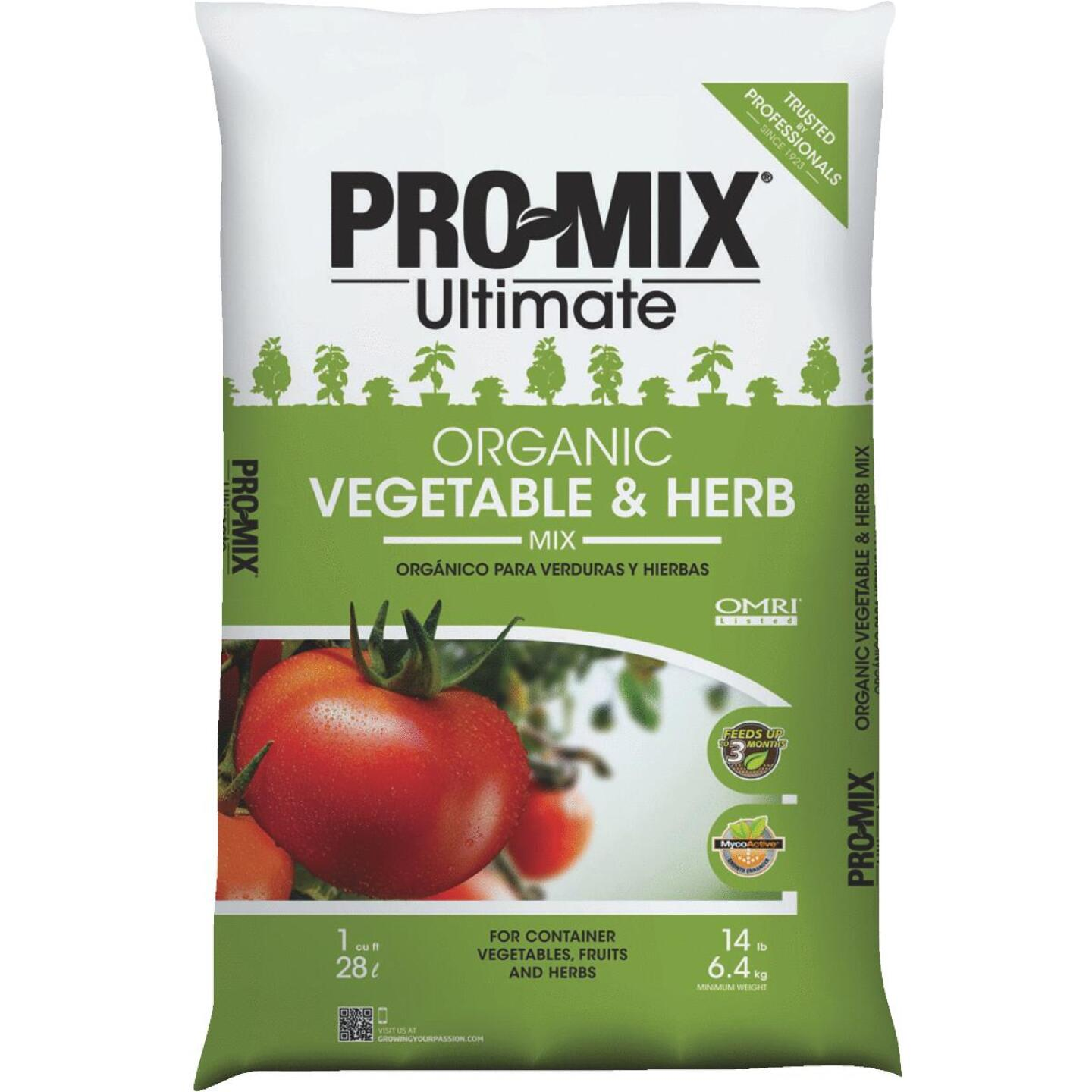 Pro Mix Ultimate 1 Cu. Ft. Container Organic Vegetable & Herb Mix Garden Soil Image 1