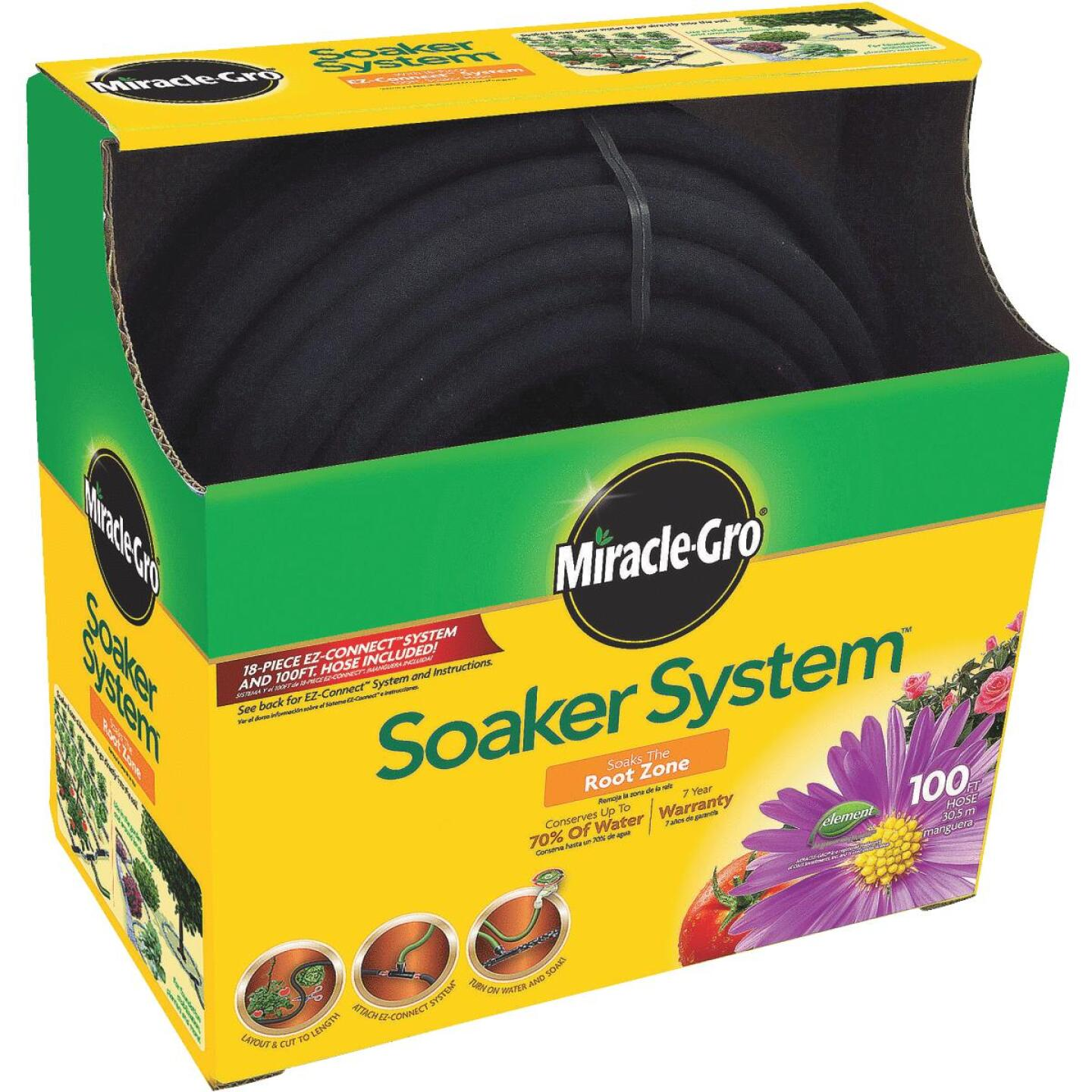 Miracle-Gro SoakerPRO Advanced E-Z Connect 3/8 In. Dia. x 100 Ft. L. Drinking Water Safe Soaker Hose Image 2
