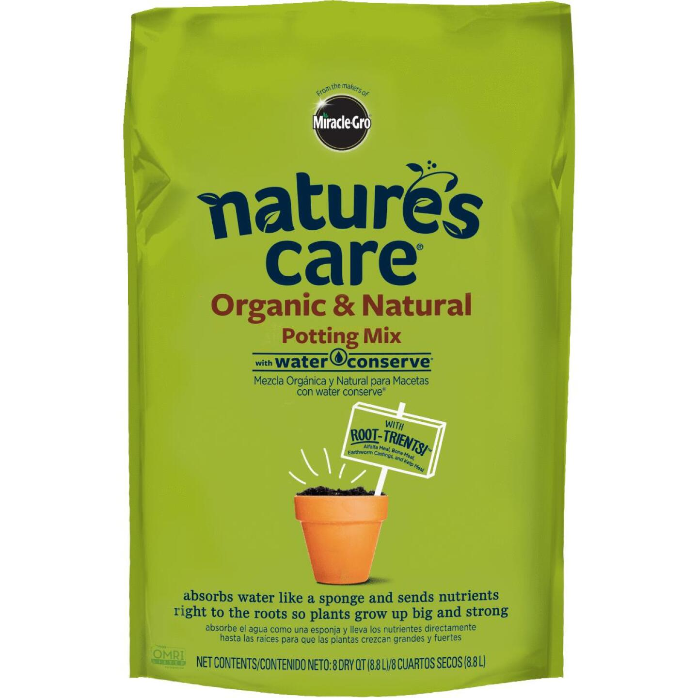 Miracle-Gro Nature's Care 8 Qt. All Purpose Organic Potting Soil Image 1