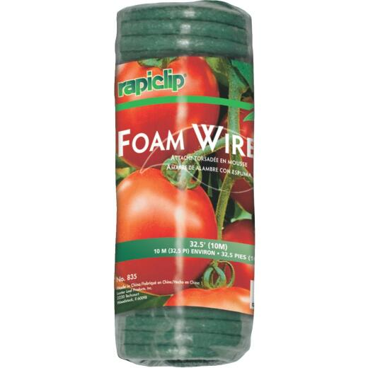Rapiclip 32-1/2 Ft. Green Foam & Wire Twist Tie