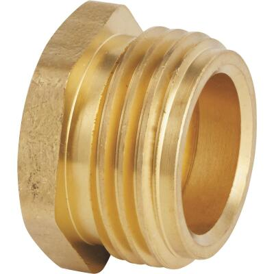 Best Garden 3/4 In. MNH x 1/2 In FNPT Brass Non-Swivel Hose Connector