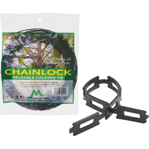 Master Mark 1/2 In. W. x 20 Ft. L. 100% Recycled Post Consumer Plastic Black Tree Support