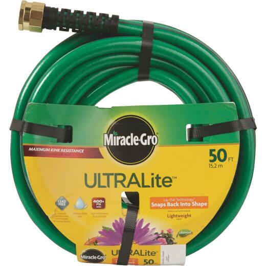Miracle-Gro ULTRALite 1/2 In. Dia. x 50 Ft. L. Garden Hose