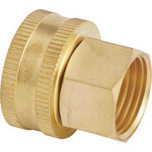 Best Garden 3/4 In. FNH x 1/2 In FNPT Brass Swivel Hose Connector