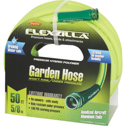 Flexzilla 5/8 In. Dia. x 50 Ft. L. Drinking Water Safe Garden Hose