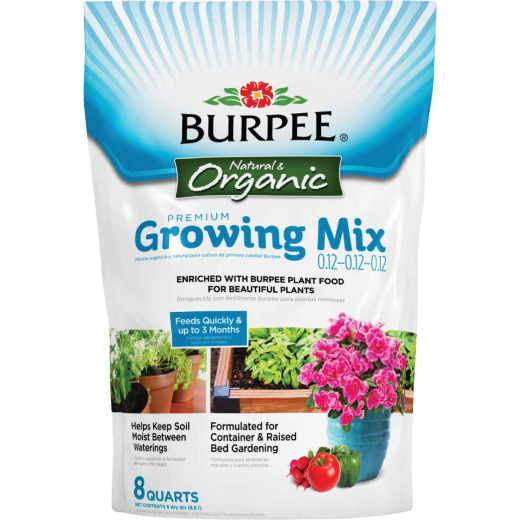 Burpee 8 Qt. 6-1/2 Lb. All Purpose Container Organic Seed Starting Mix