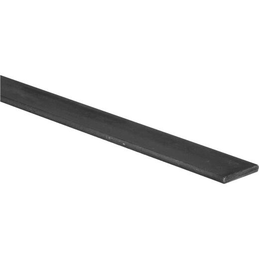 HILLMAN Steelworks 1-1/2 In. x 4 Ft. x 1/4 In. Hot-Rolled Steel Plain Steel Flat Stock