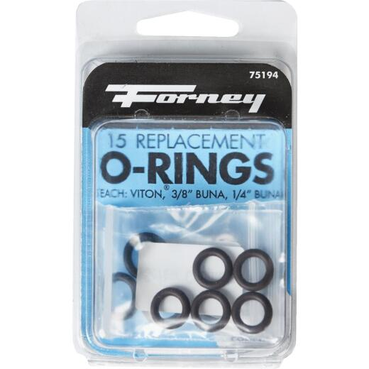Forney Quick Coupler & Screw Coupler Pressure Washer O-Ring (15-Piece)