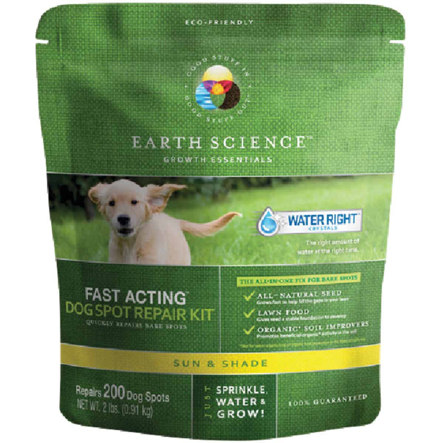 Earth Science 2Lb. Covers Up to 300 Dog Spots Sun & Shade Grass Patch & Repair Image 1