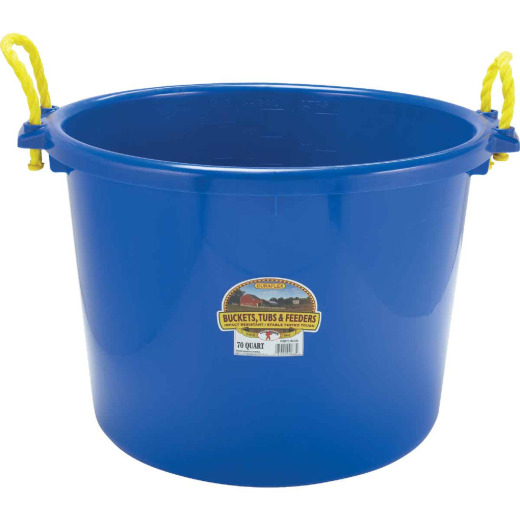 Little Giant Duraflex 70 Qt. Blue Plastic Utility Tub