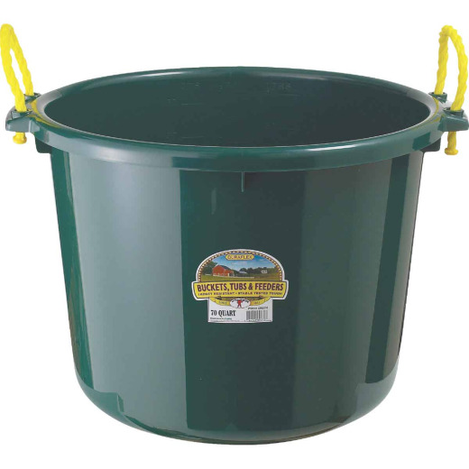 Little Giant Duraflex 70 Qt. Green Plastic Utility Tub