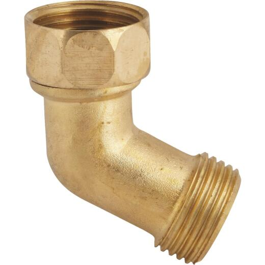 Best Garden 3/4 In. FNH x 3/4 In. MNH Brass Gooseneck Hose Connector