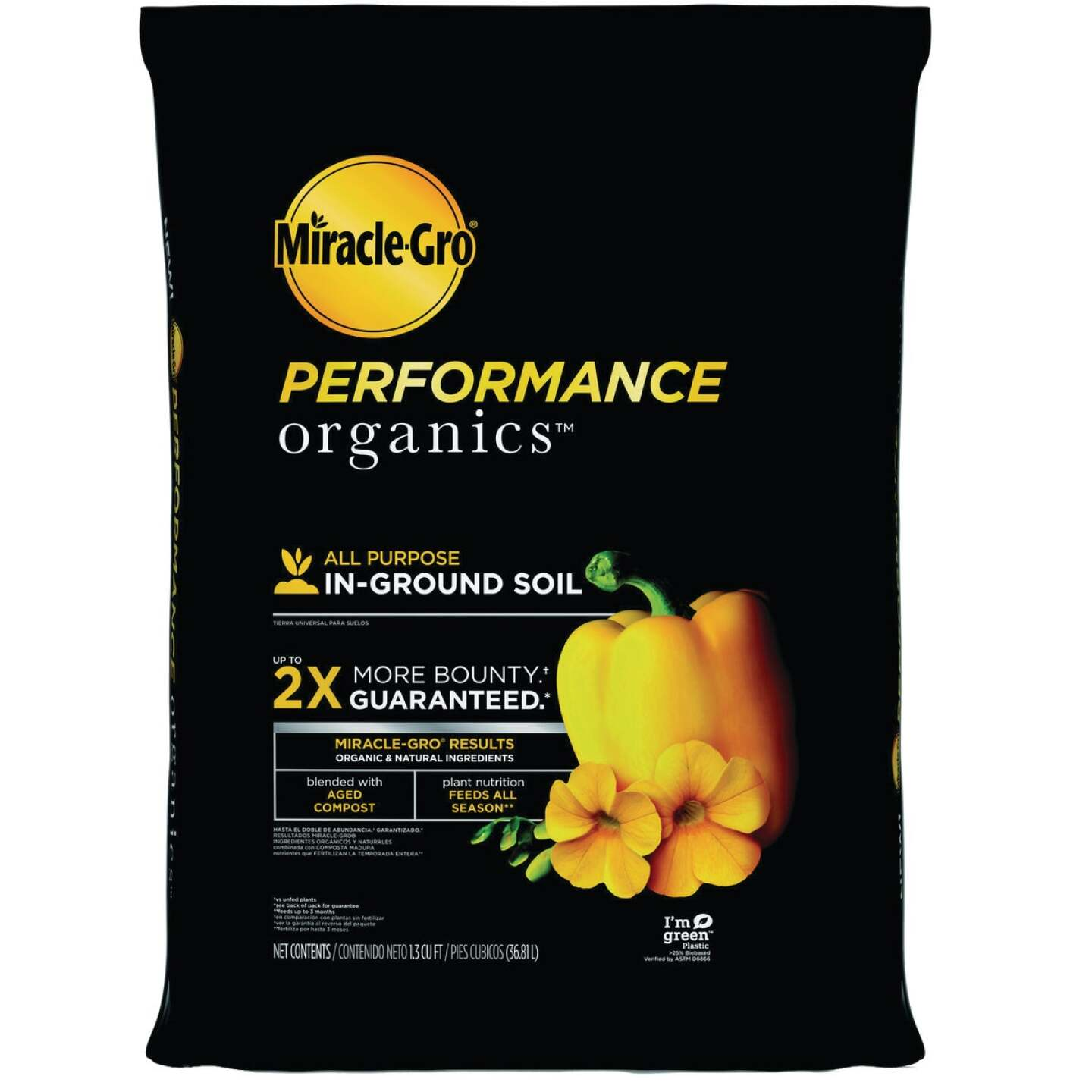 Miracle-Gro Performance Organics 1.33 Cu. Ft. 48 Lb. In-Ground All Purpose Garden Soil Image 1