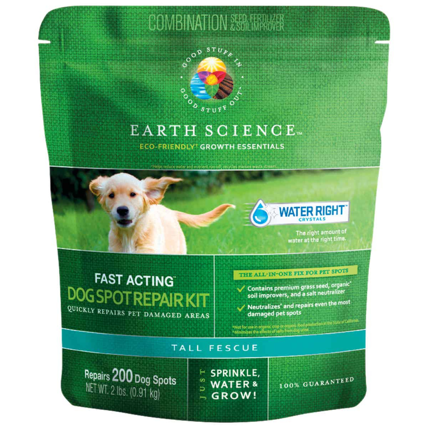 Earth Science 2Lb. Covers Up to 300 Dog Spots Triple Fescue Grass Patch & Repair Image 1