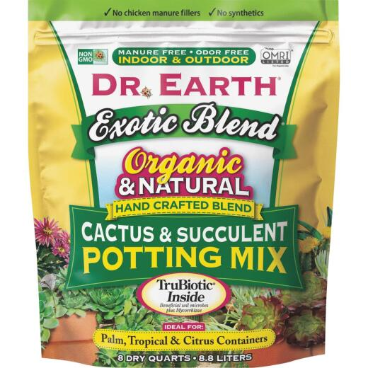 Dr. Earth Exotic Blend 8 Qt. 1/3 Lb. Cactus & Succulent Organic Potting Soil
