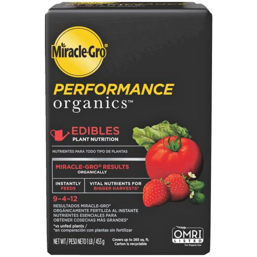 Miracle-Gro Performance Organics 1 Lb. 9-4-12 Plant Food for Edibles