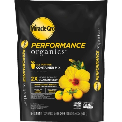 Miracle-Gro Performance Organics 6 Qt. 6 Lb. All Purpose Container Potting Soil