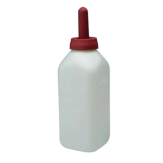 Little Giant 13-1/2 In. H. x 4-1/4 In. Dia. White Calf Bottle with Nipple
