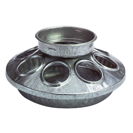 Little Giant 6 In. Galvanized Steel Poultry Feeder Base
