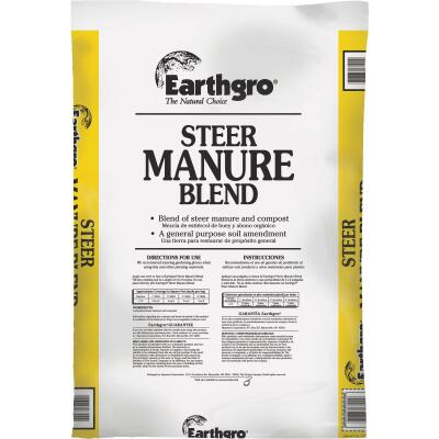 Earthgro 29 Lb. 1 Cu. Ft. 6 Sq. Ft. Coverage Steer Manure