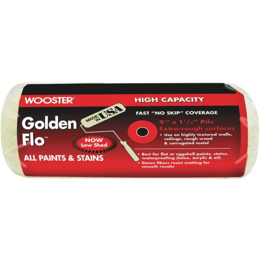 Wooster Golden Flo 9 In. x 1-1/4 In. Knit Fabric Roller Cover