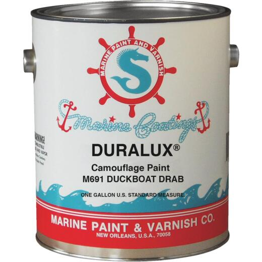 DURALUX Flat Camoulflage Marine Paint, Duckboat Drab, 1 Gal.
