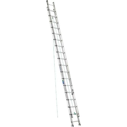 Werner 36 Ft. Aluminum Extension Ladder with 225 Lb. Load Capacity Type II Duty Rating