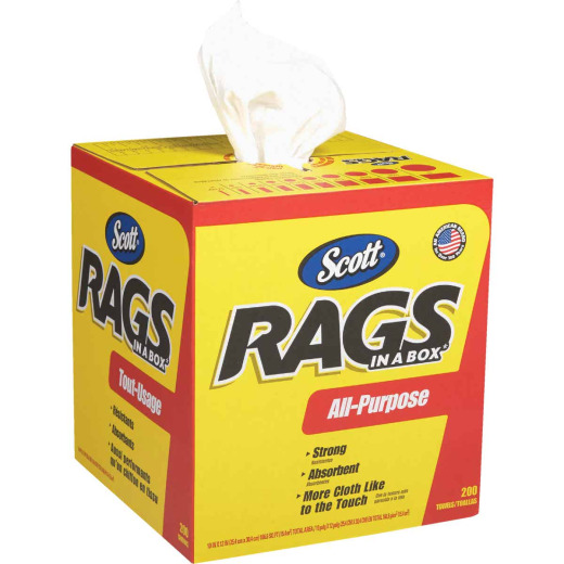 Scotts White Rags in a Box, 200-Ct.