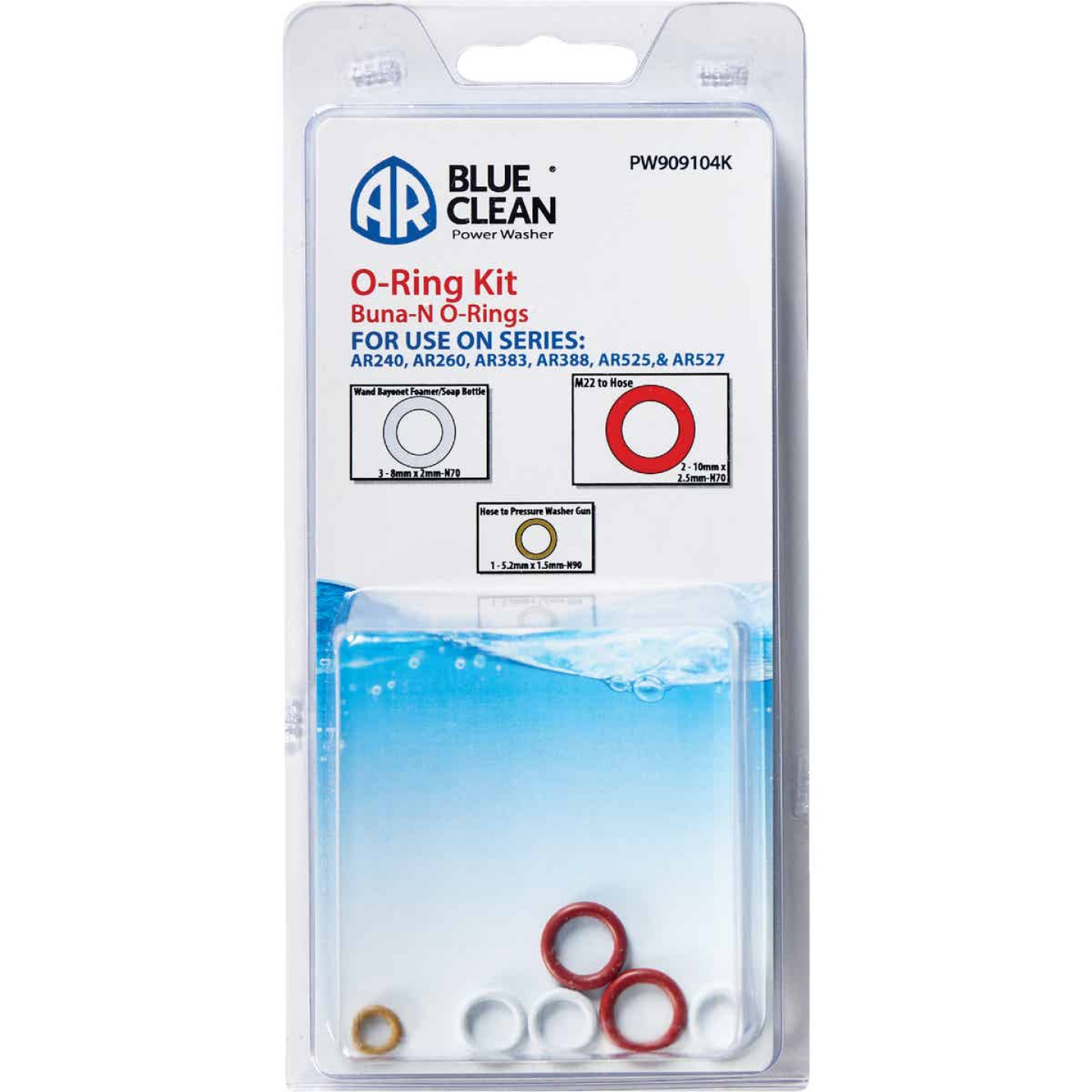 AR Blue Clean Pressure Washer O-Ring Kit (5-Piece) Image 1