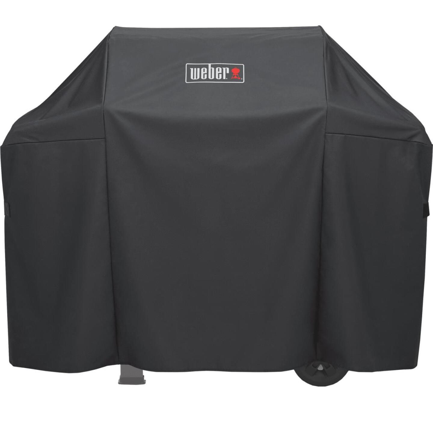 Weber Spirit II 51 In. 3-Burner Black Polyester Gas Grill Cover Image 1