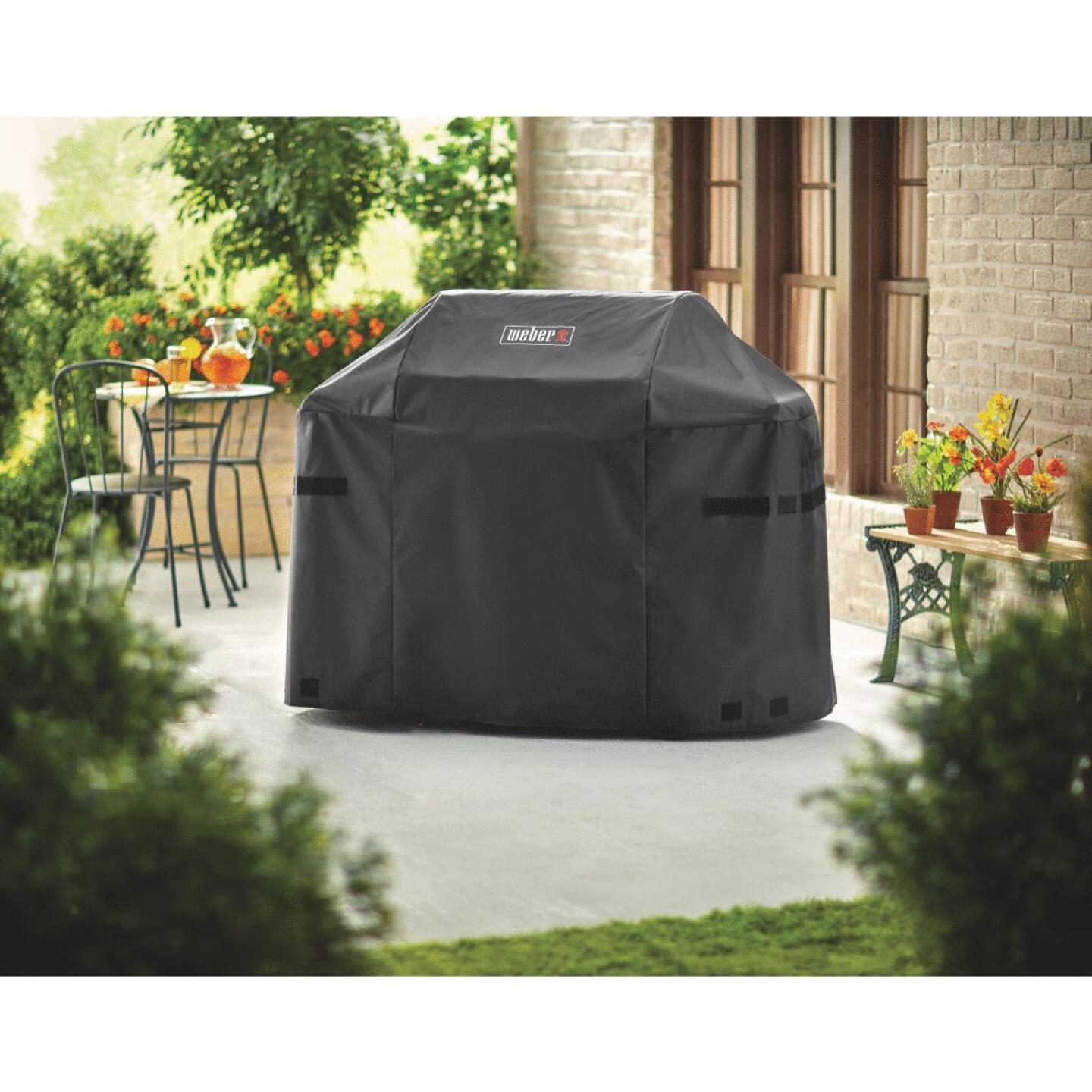 Weber Spirit II 51 In. 3-Burner Black Polyester Gas Grill Cover Image 3