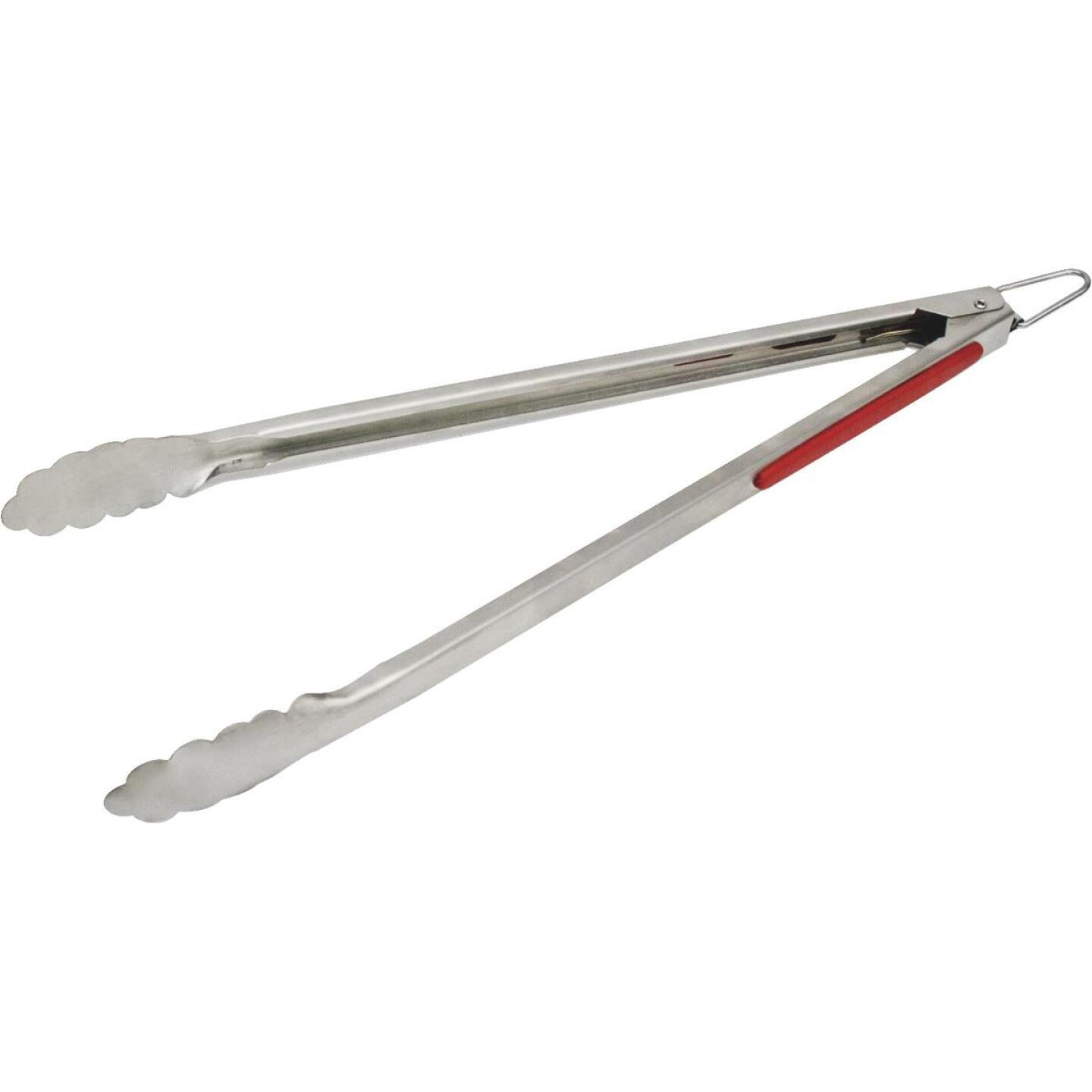 GrillPro 15 In. Stainless Steel Barbeque Tongs Image 1