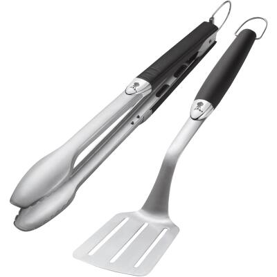 Weber Soft Touch Stainless Steel 2-Piece Barbeque Tool Set