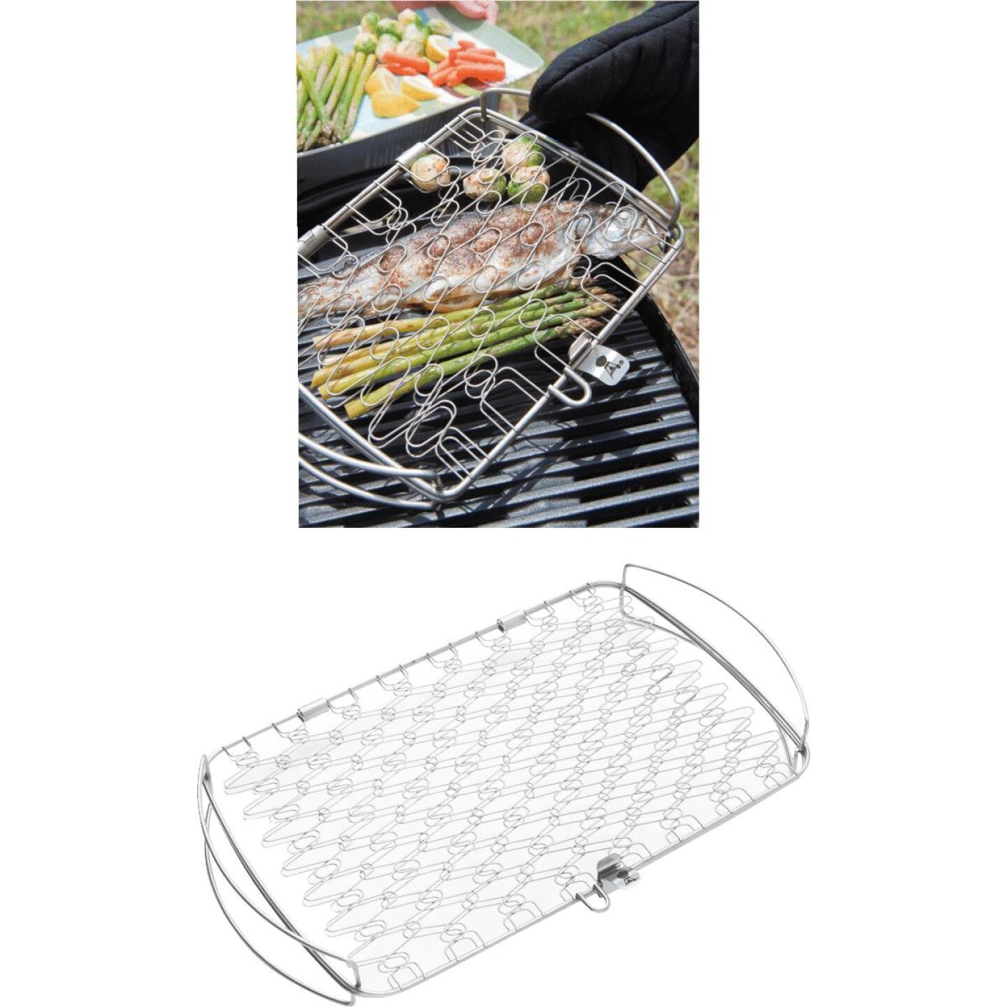Weber 10 In. W. x 16 In. L. x 2.25 In. D. Large Flexible Wire Fish Grill Basket Image 1
