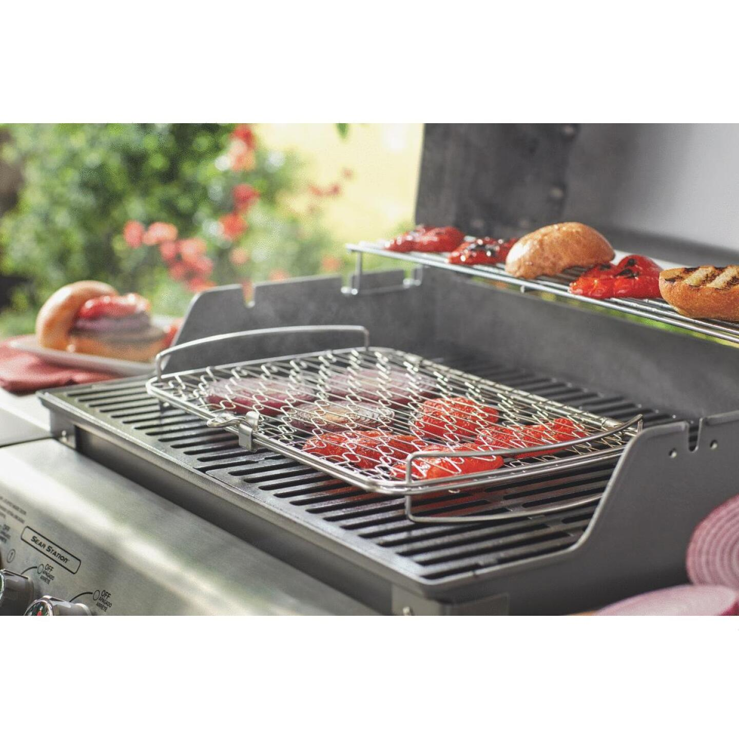 Weber 10 In. W. x 16 In. L. x 2.25 In. D. Large Flexible Wire Fish Grill Basket Image 8