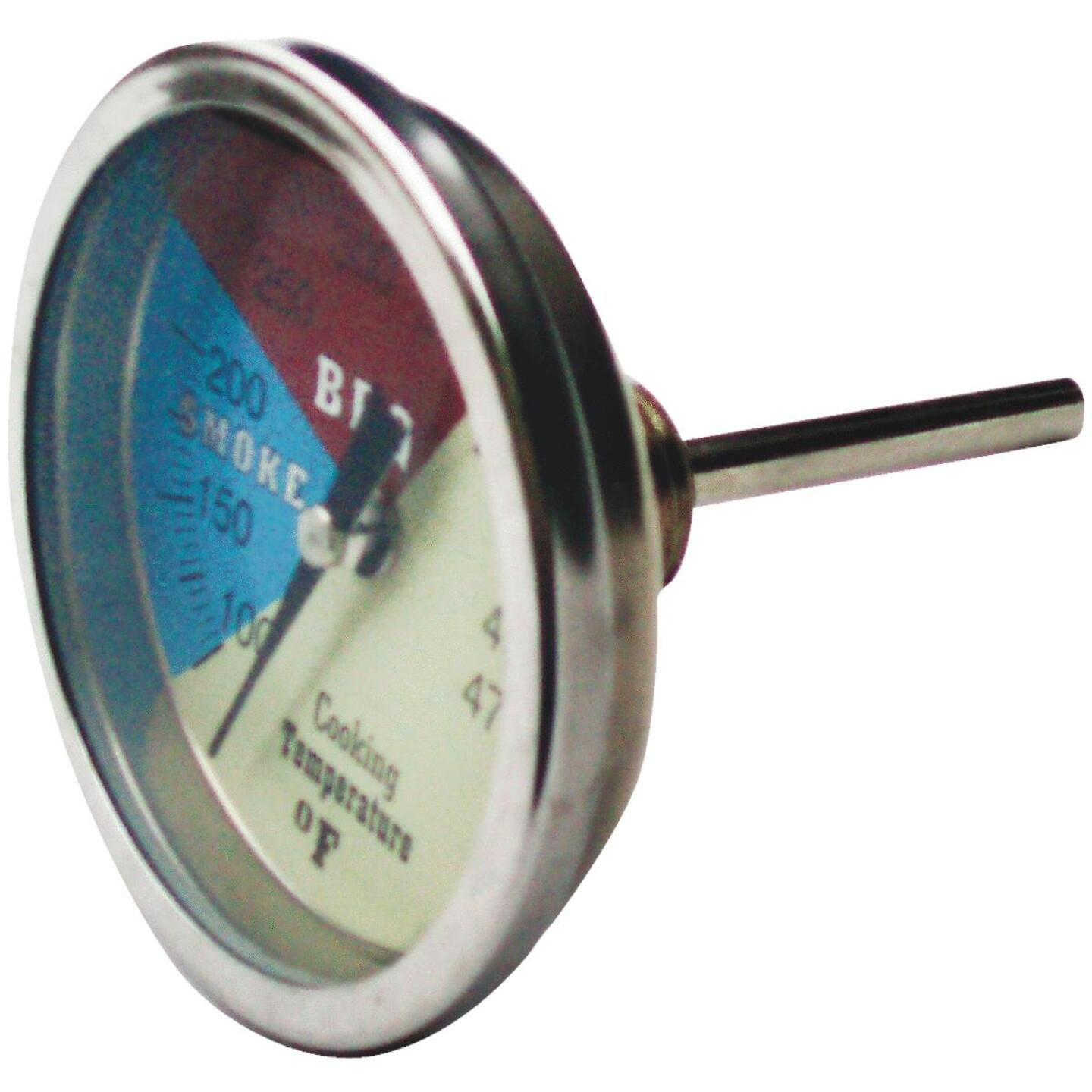 Old Smokey Products Analog 3 In. Stainless Steel Temperature Gauge Thermometer Image 1