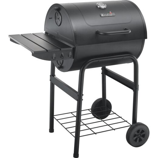 Char-Broil American Gourmet 24 In. L. x 24 In. Dia. Black Charcoal Grill